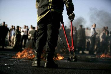 הפגנת אנשי ימין, אתמול ליד ירושלים (צילום: אביר סולטן)