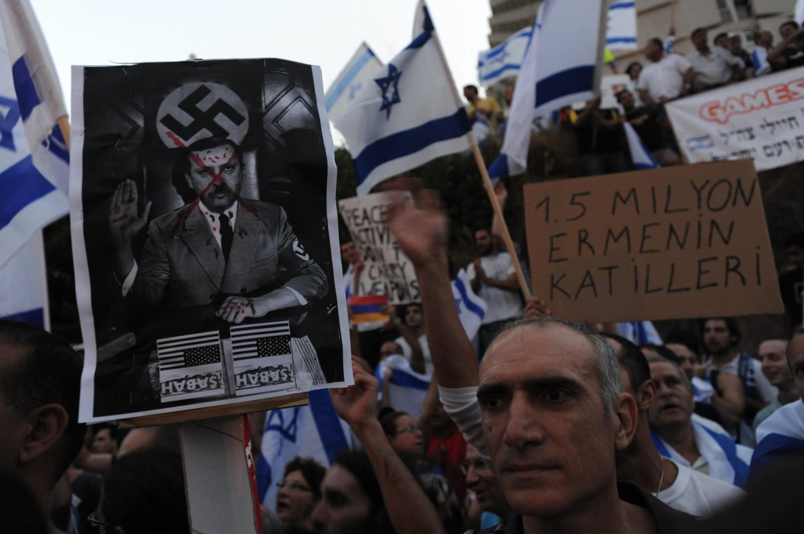 הפגנה אנטי-טורקית, 3.6.10 (צילום: גילי יערי)
