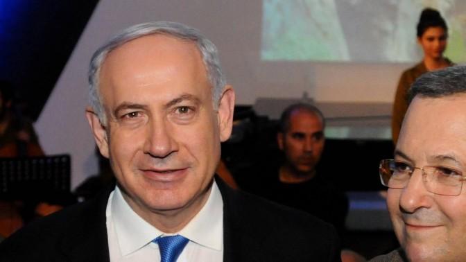 ראש הממשלה בנימין נתניהו ושר הביטחון אהוד ברק, בטקס הפרידה מהאחרון, אתמול (צילום: יוסי זליגר)