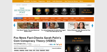 Fox News Fact-Checks Sarah Palin's Coin Conspiracy Theory (VIDEO)