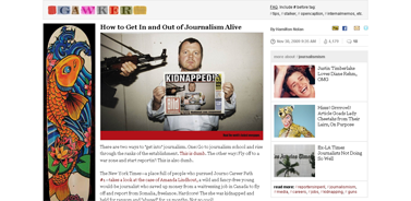 How to Get In and Out of Journalism Alive - journalismism - Gawker