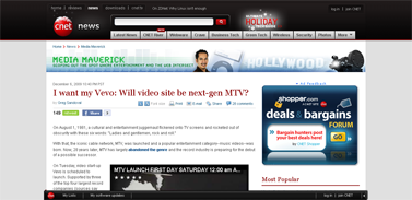 I want my Vevo- Will video site be next-gen MTV  Media Maverick - CNET News