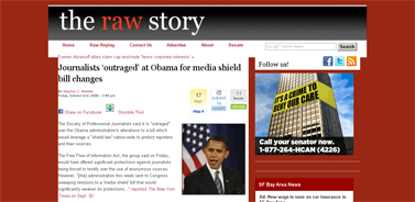 Journalists 'outraged' at Obama for media shield bill changes  Raw Story