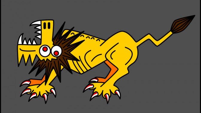 אריה. איור: gwenboul (cc-by-nc-sa)