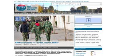 Military boot camp for Chinese internet addicts  Radio Netherlands Worldwide