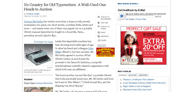 No Country for Old Typewriters - A Well-Used One Heads to Auction - NYTimes.com