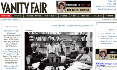 October 2009- Michael Wolff on The Washington Post  vanityfair.com