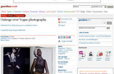 Outrage over Vogue photographs  Media  The Guardian