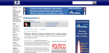 Pulitzer Elects Politico Editor For Online Sites - wcbstv.com