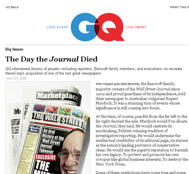 The Day the Journal Died- Big Issues- GQ