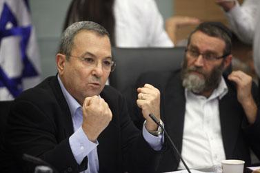 שר הביטחון אהוד ברק, שלשום בכנסת (צילום: ליאור מזרחי)