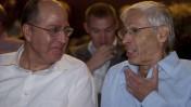 השרים בני בגין (מימין) ומשה יעלון, אתמול בירושלים (צילום: דוד ועקנין)