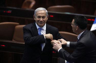 ראש הממשלה בנימין נתניהו, בפתיחת מושב החורף של הכנסת. 31.10.11 (צילום: ליאור מזרחי)