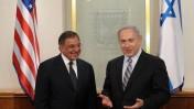 """ראש הממשלה בנימין נתניהו נפגש עם שר ההגנה האמריקאי ליאון פנאטה, אתמול בירושלים (צילום: עמוס בן-גרשום, לע""""מ)"""