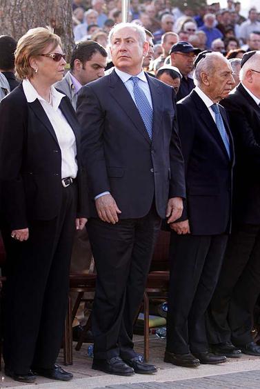 ראש הממשלה בנימין נתניהו, אתמול בטקס יום ירושלים (צילום: אמיל סלמן)