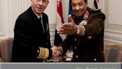 """ראש המועצה העליונה של הכוחות המזוינים במצרים, מוחמד טנטאווי, נפגש עם יו""""ר המטות המשולבים האמריקאיים מייק מולן (צילום: צבא ארה""""ב, נחלת הכלל)"""