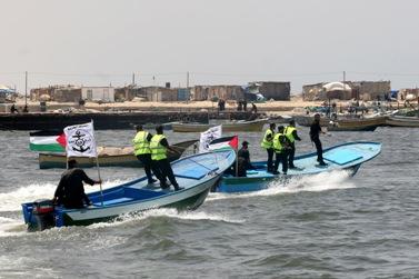 חיל הים של חמאס בעזה, אתמול (צילום: עבד רחים ח'טיב)