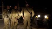 """חיילי צה""""ל סמוך לגבול הירדני, אחרי שפעילי ימין תפסו מבנים נטושים באזור (צילום: דוד ועקנין)"""