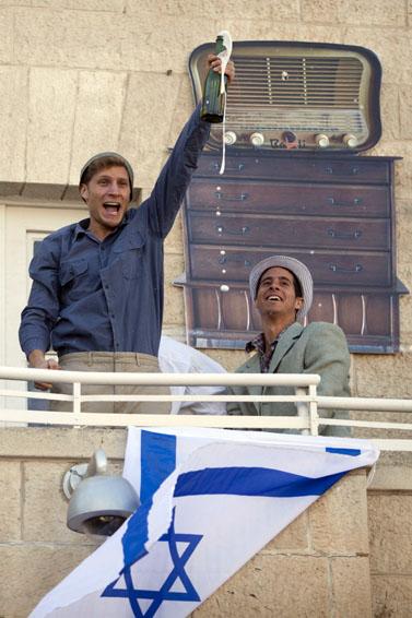 """שחזור של חגיגות כ""""ט בנובמבר, אתמול בירושלים (צילום: דוד ועקנין)"""