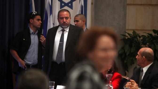שר החוץ אביגדור ליברמן, אתמול בכנס השגרירים (צילום: ליאור מזרחי)