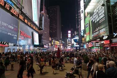 טיימס סקוור, ניו-יורק, שלשום בלילה (צילום: cubro, רשיון cc)