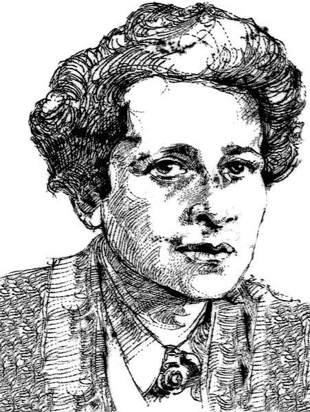 איור של חנה ארנדט על בול גרמני