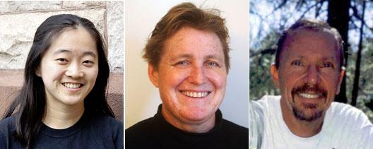 """כתבי ה""""אינסייד קליימט ניוז"""" זוכי הפוליצר. משמאל: ליסה סונג, אליזבת מקגוֹוַן ודייוויד הייזמיר"""
