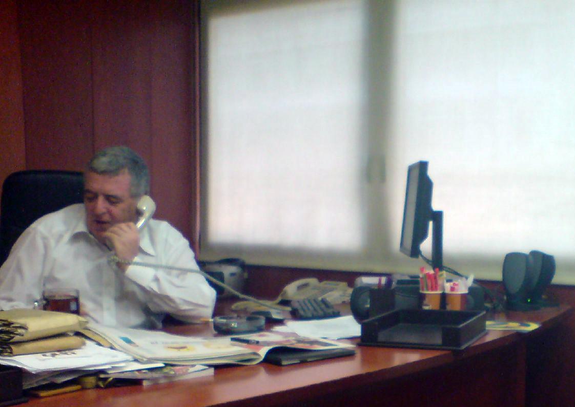 """אמנון דנקנר, בית """"מעריב"""", 2007 (צילום: דפני ליסבונה)"""