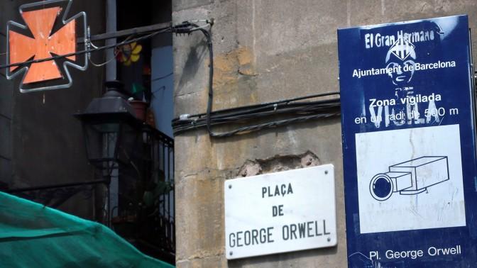 כיכר ג'ורג' אורוול בברצלונה (צילום: Christian Payne, רישיון CC BY-NC-SA 2.0)כיכר ג'ורג' אורוול בברצלונה (צילום: Christian Payne, רישיון CC BY-NC-SA 2.0)