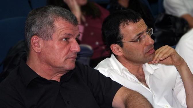 """רביב דרוקר ומיקי רוזנטל, היום בכנס התנועה לחופש המידע (צילום: """"העין השביעית"""")"""