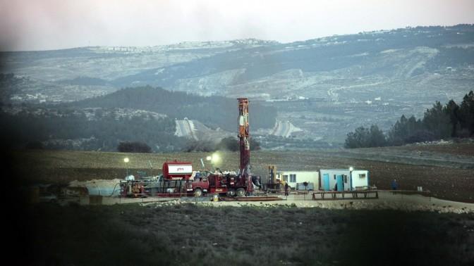 אתר קידוחים ליד עמק האלה, 6.1.2010 (צילום: יוסי זמיר)