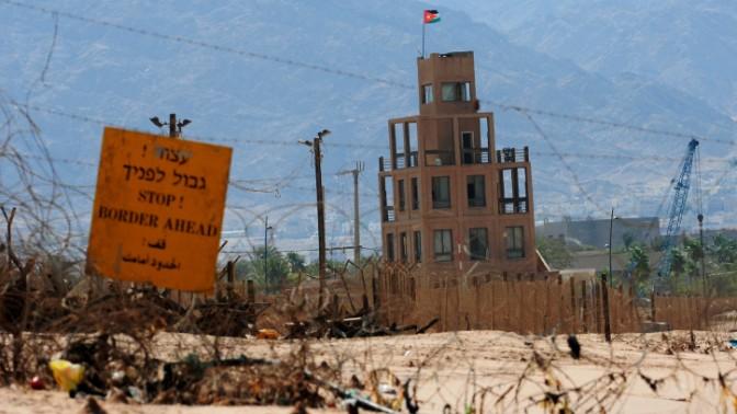 עמדת גבול ירדנית נטושה ליד ים המלח (צילום: מנדי הכטמן)