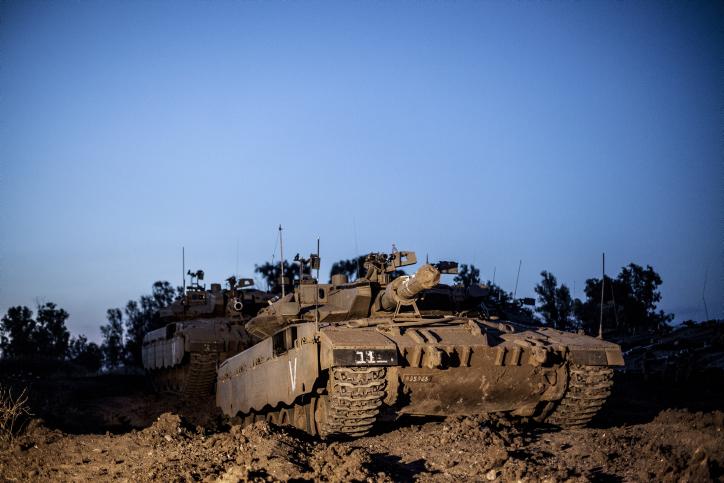 טנק ישראלי ברמת הגולן, אתמול (צילום: ניל בדח)