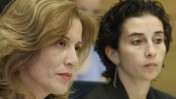 חברת הכנסת עליזה לביא (משמאל) היום בדיון בכנסת (צילום: מרים אלסטר, 6.5.13)