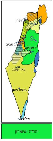 מפת אזורי הזיכיון של הרדיו האזורי (אתר הרשות השנייה)