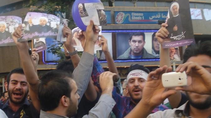 תומחי רוחאני באיראן, 13.6.13 (צילום: Tabarez2, רישיון CC BY-SA 3.0)