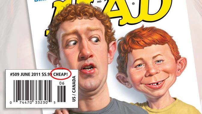 כיתוב Cheap! על שער מגזין Mad