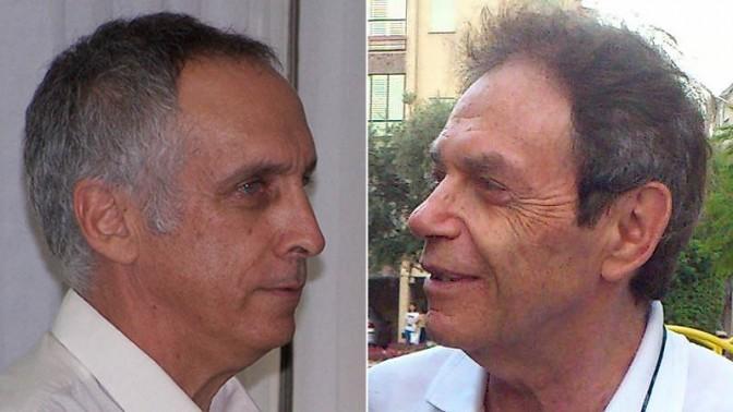 """מנהל קול-המוזיקה אריה יאס (מימין) ומנהל קול-ישראל מיקי מירו (צילומים: דף הפייסבוק של קול-המוזיקה ו""""העין השביעית"""")"""