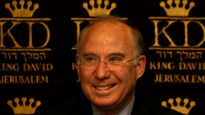 פרופ' פרנקל במסיבת עיתונאים בירושלים, 26.5.2008 (צילום: אנה קפלן)