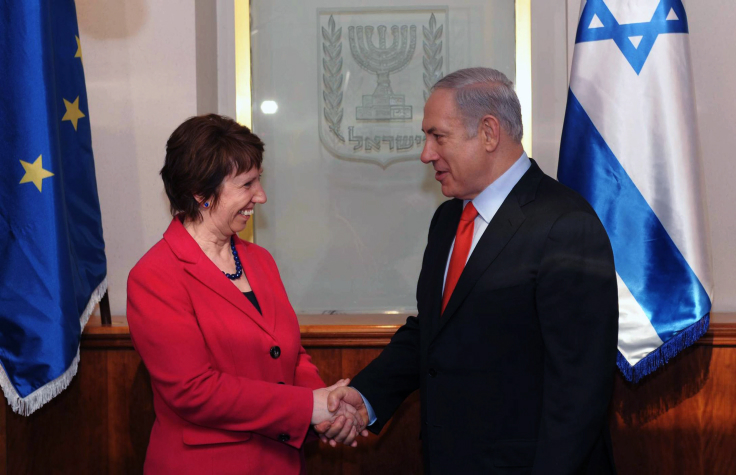 """ראש ממשלת ישראל בנימין נתניהו ונציגת האיחוד-האירופי קתרין אשטון (צילום: עמוס בן-גרשום, לע""""מ)"""