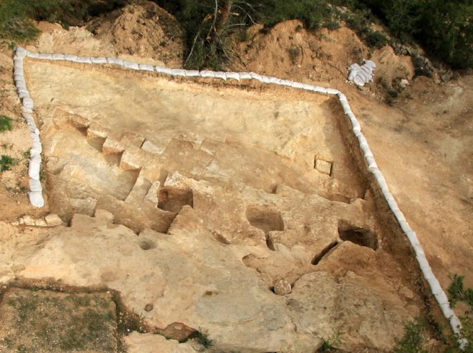 מקווה מתקופת בית-שני, שנחשף בחפירות במערב ירושלים (צילום: רשות העתיקות/פלאש 90)
