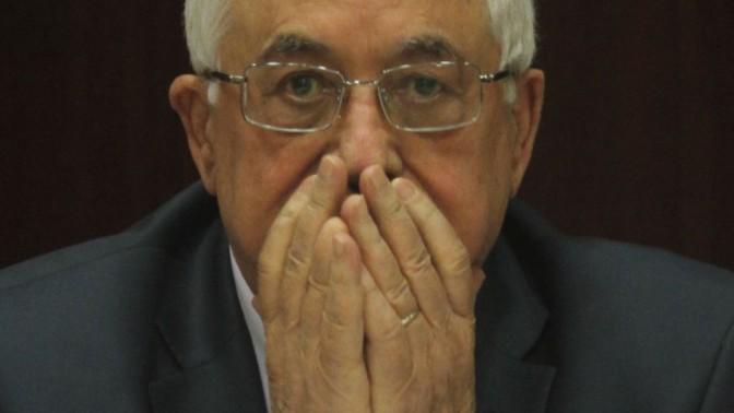 """יו""""ר הרשות הפלסטינית מחמוד עבאס בישיבת קבינט אתמול ברמאללה (צילום: עיסאם רימאווי)"""