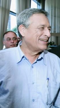 יאיר לפיד, דן מרגלית ואבי בניהו, 1.6.2007 (צילום: משה שי)