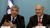 ראש הממשלה בנימין נתניהו ושר האוצר יאיר לפיד, 3.7.13 (צילום: פלאש 90)