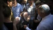 הרב מוטי אלון, בבית המשפט בירושלים. 7.8.13 (צילום: פלאש 90)