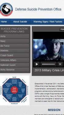 אתר אמריקאי למניעת התאבדות חיילים (צילום מסך)