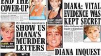 """כותרות בעניינה של הנסיכה דיאנה בצהובון """"דיילי אקספרס"""" (מהבלוג """"קארי בט"""")"""