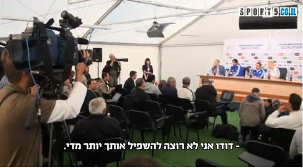 העיתונאי נדב צנציפר והכדורגלן דודו אוואט בתגרת מלים, 10.9.13 (צילום מסך)