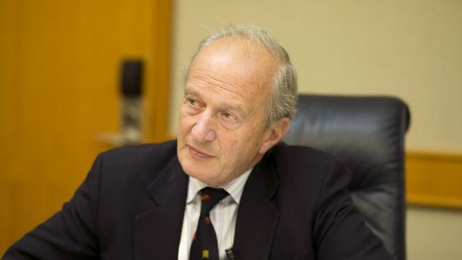 הלורד דייויד האנט, ראש מועצת העיתונות הבריטית,. תל-אביב, 10.9.13 (צילום: מתניה טאוסיג)