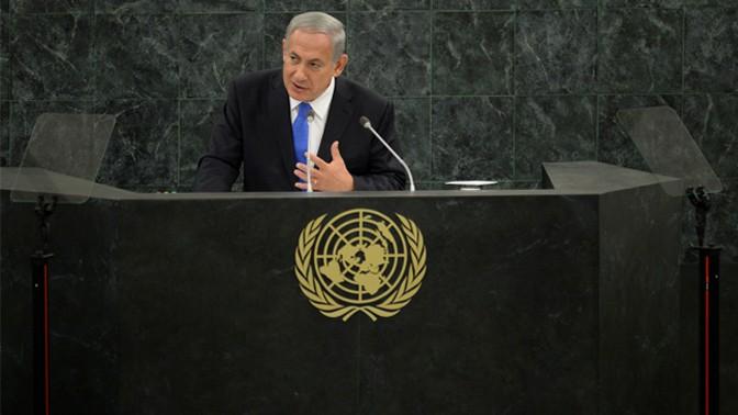 """ראש הממשלה בנימין נתניהו נואם אתמול באו""""ם (צילום: קובי גדעון, לע""""מ)"""